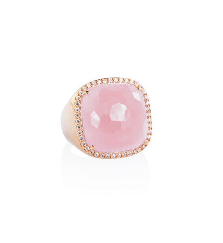 Moro & Ognissanti- Candy Ring with Rose Quartz