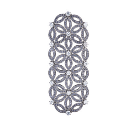 Moro and Ognissanti-Velo necklace with blue sapphires and CZ – 7cm