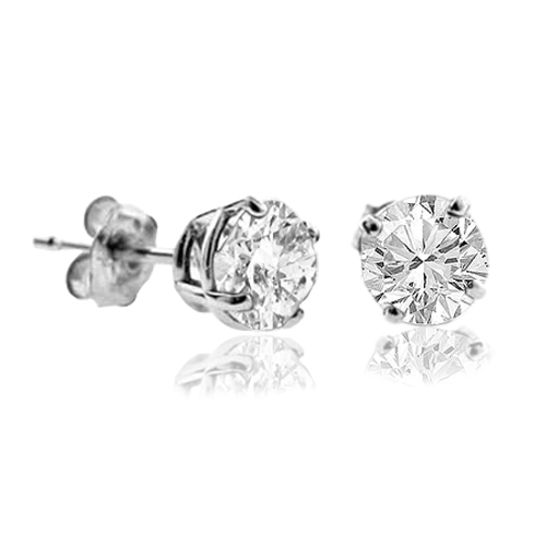 18ct white gold diamond stud earrings FJ4001