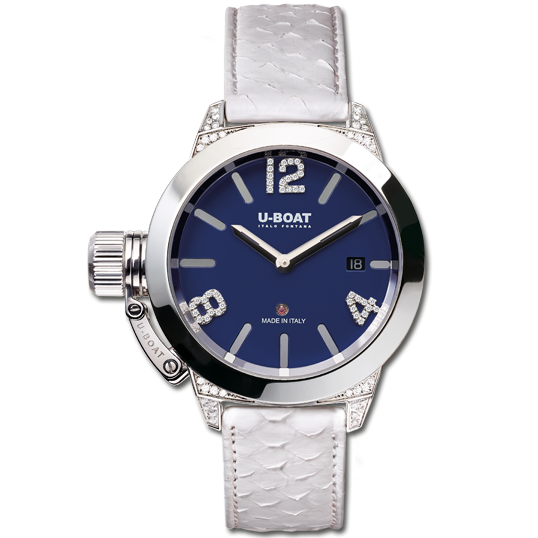 U-Boat classico 40 ladies blue dial and diamonds -7077