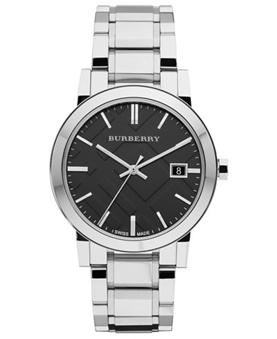 Burberry City black face on metal bracelet-BU9001