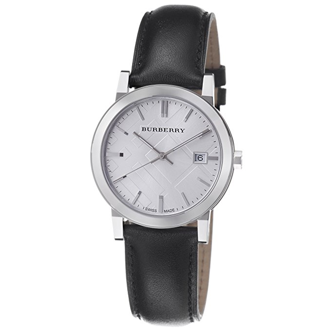Burberry the city gents silver dial -BU9008