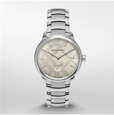 Burberry gents steel on bracelet-BU10004