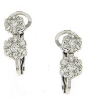 Gival 18ct drop cluster diamond earrings -4128/O