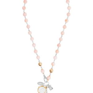 FJN-096 Pearlina Necklace Pink Opal