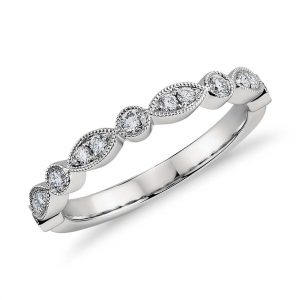 milgrain-marquise-and-dot-diamond-ring-in-platinum