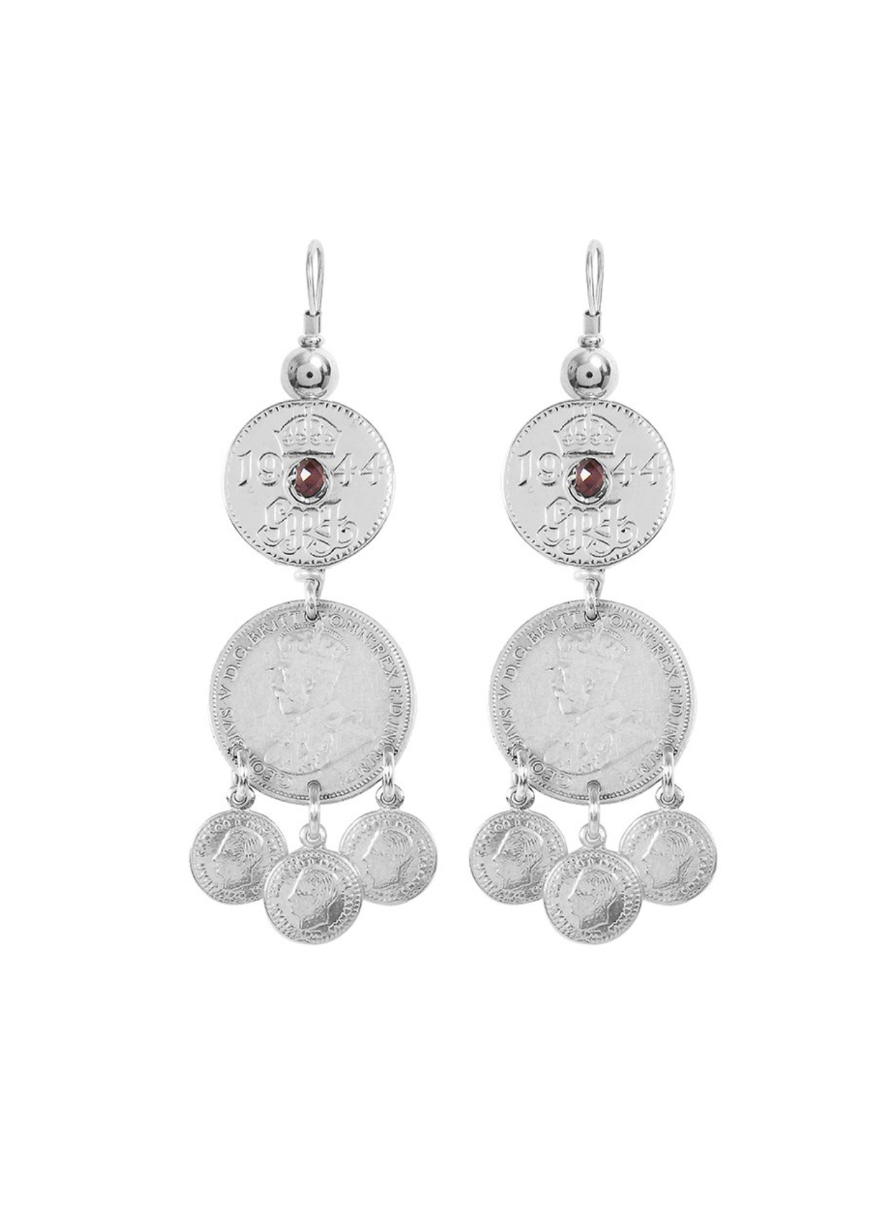 Fiorina  Joy Gypsy Earrings-Garnet