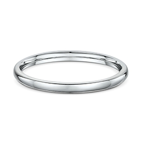 9ct White Gold 2.5mm