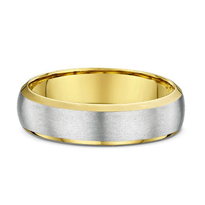 9ct Two tone brushed and Polished Wedding Ring-631B02