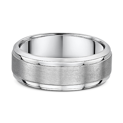 9ct Brushed and Polished Gents Wedding Ring- 661B00