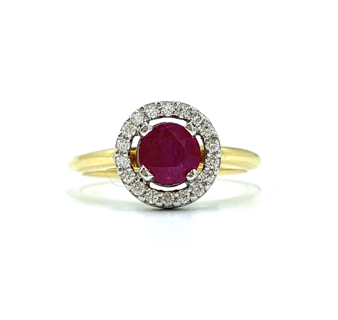 18ct Two Tone Ruby