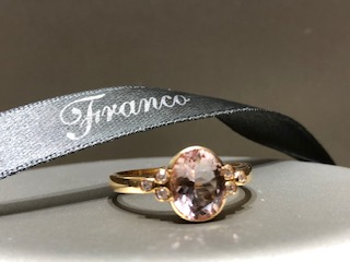 18ct rose gold oval