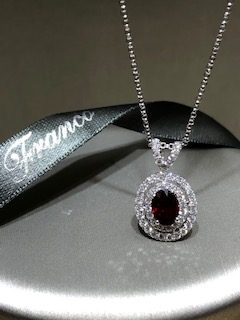 18ct white gold double