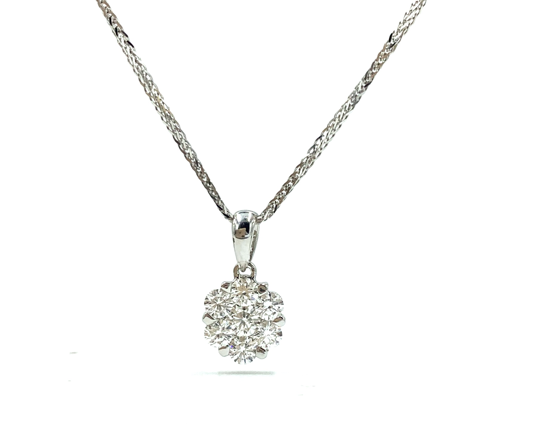 18ct White Gold Cluster