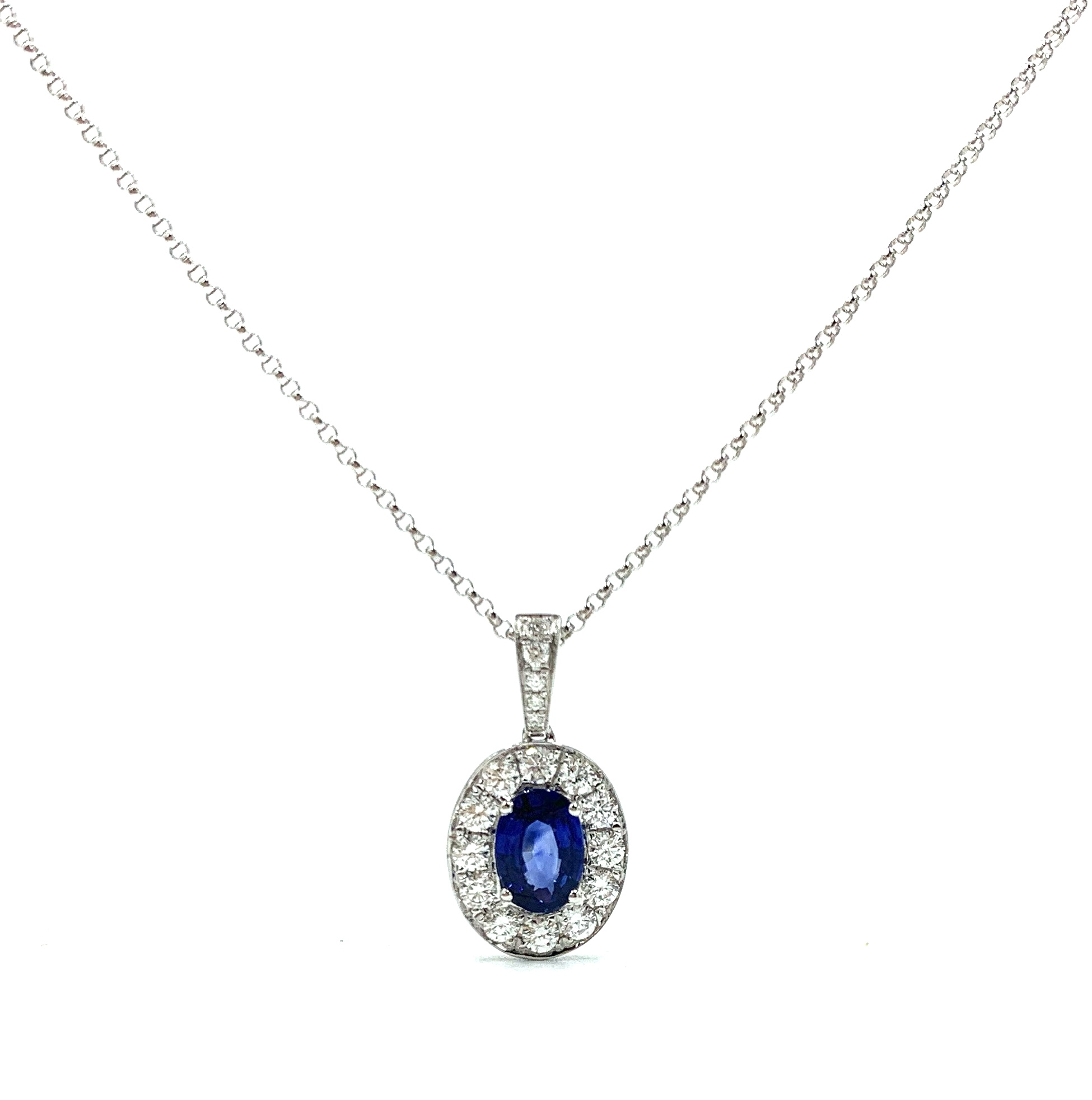 18ct White Gold Oval