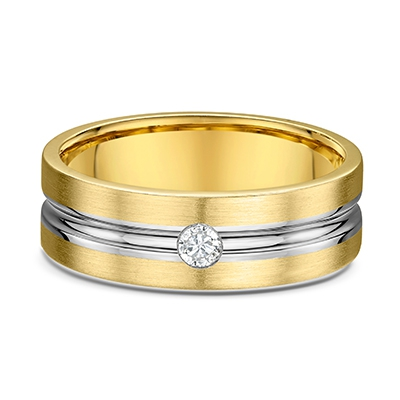 9ct Two Tone Gents