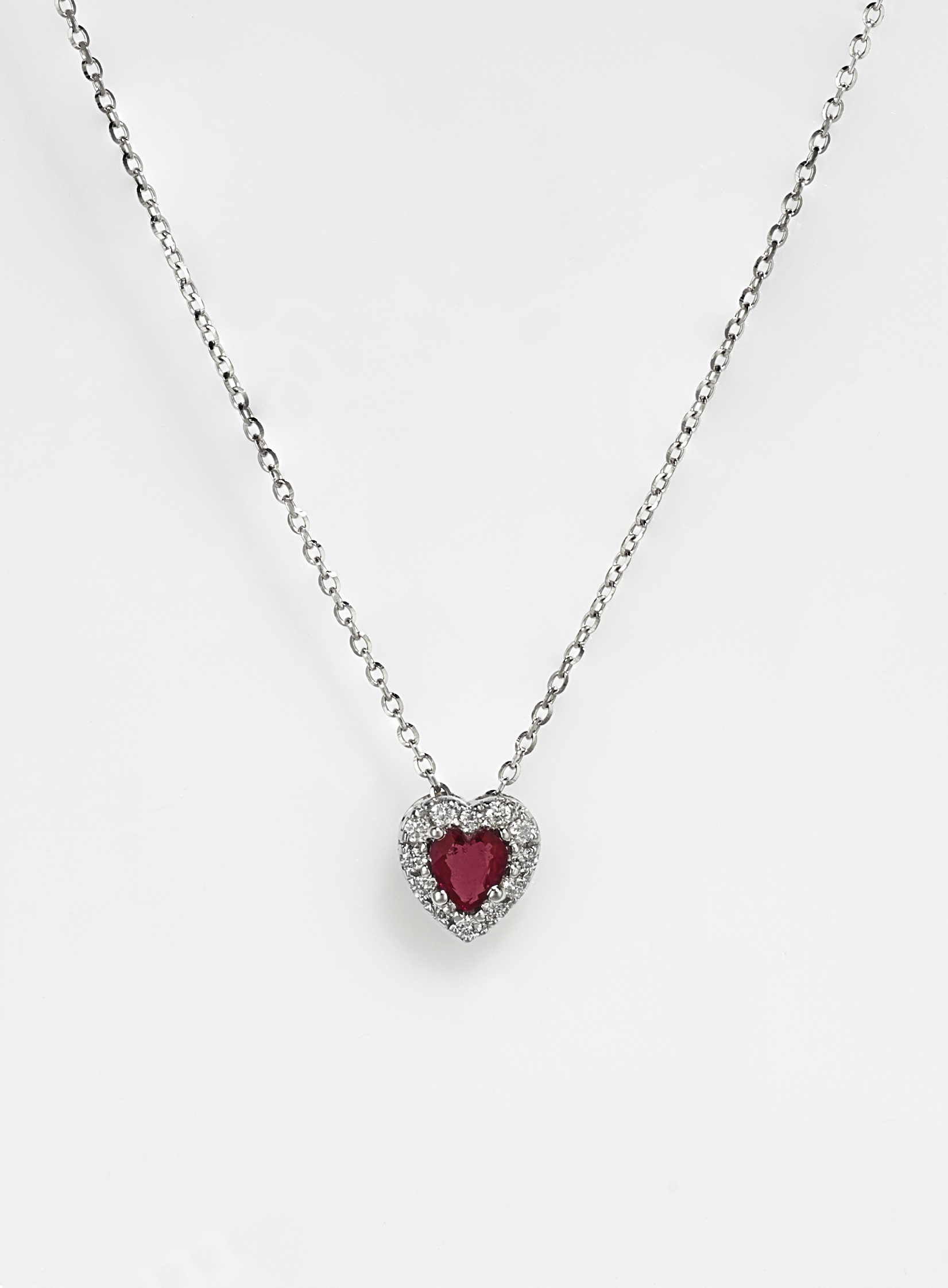 18ct White Gold Ruby
