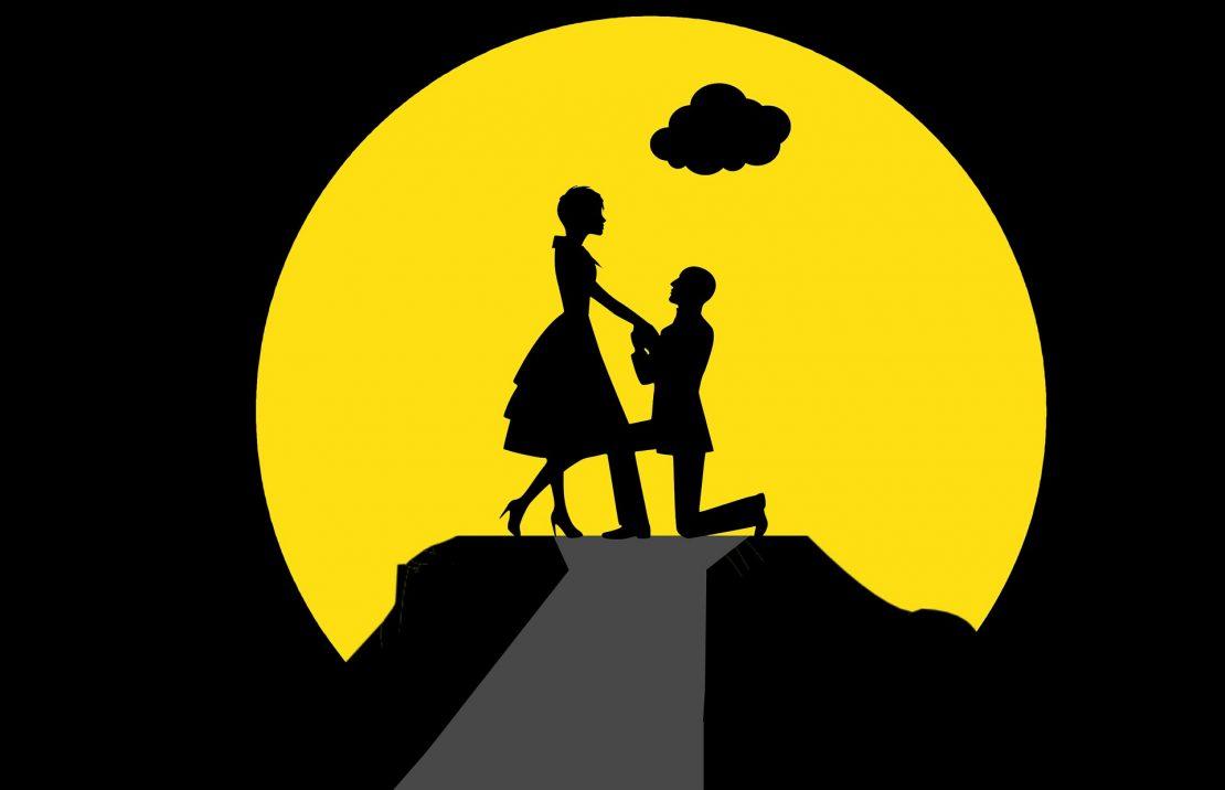 couple proposal graphic illustration