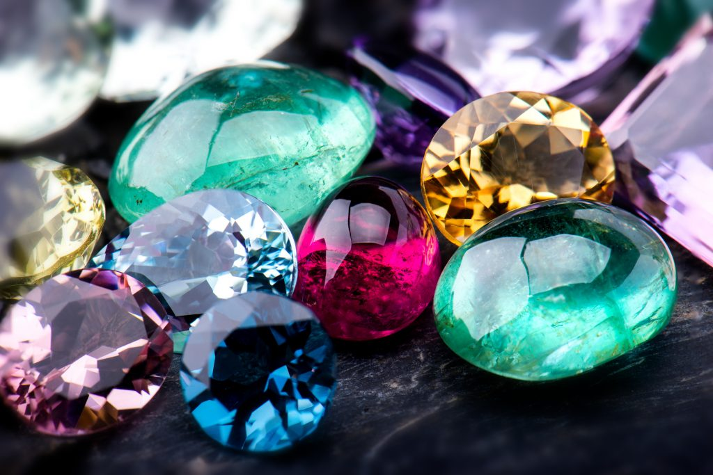 Collection of various Gemstones jewellery