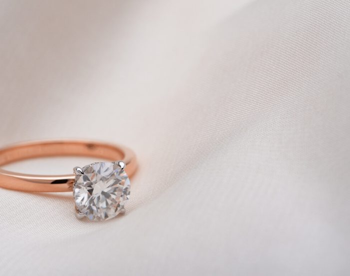 rose gold engagement rings Melbourne